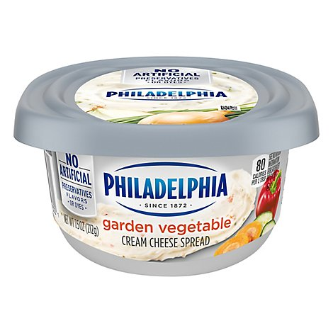Philadelphia Cream Cheese Spread Garden Vegetable - 8 Oz