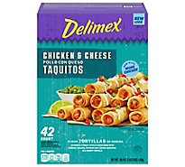 Delimex Chicken & Cheese Flour Taquito - 50.4 Oz