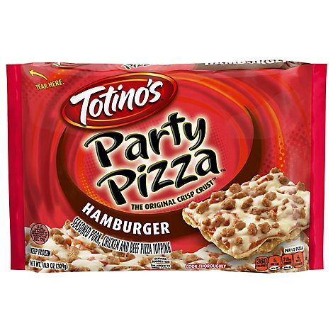 Totinos Party Pizza Hamburger Frozen - 10.9 Oz