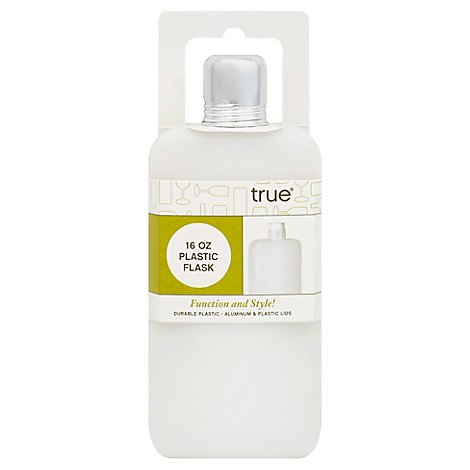 Plastic Flask 16 Oz True Fab - Each