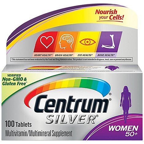Centrum Silver Multivitamin/Multimineral Tablets Women 50+ - 100 Count