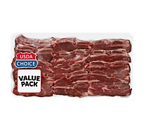 Meat Counter Beef USDA Choice Chuck Short Ribs Flanken Style Extreme Value Pack - 3.50 LB