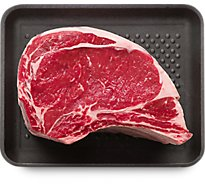 Meat Counter Beef USDA Choice Ribeye Roast Bone In - 6 Lb