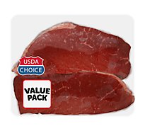 Meat Counter Beef USDA Choice Top Round Steak Extreme Value Pack - 3.50 LB
