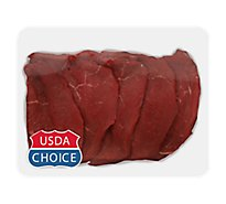 Meat Counter Beef USDA Choice Round Tip Steak - 1 LB