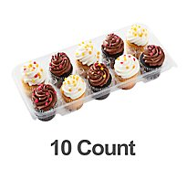 Fresh Baked 5 White 5 Chocolate Cupcake - 10 Count