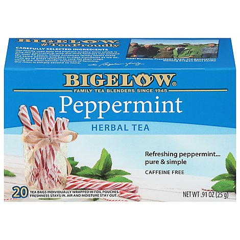 Bigelow Herbal Tea Caffeine Free Peppermint - 20 Count