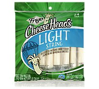 Frigo Cheese Heads Mozzarella String Cheese Light 24 Pack - 20 Oz