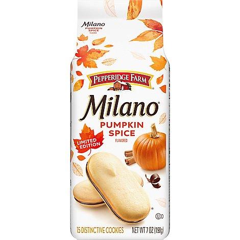 Pepperidge Farm Milano Cookies Pumpkin Spice 7 Oz Tom Thumb