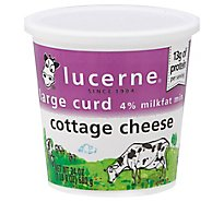 Lucerne Cottage Cheese 4% Large Curd - 24 Oz