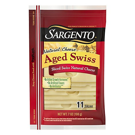 Sargento Natural Aged Swiss Cheese - 7 Oz