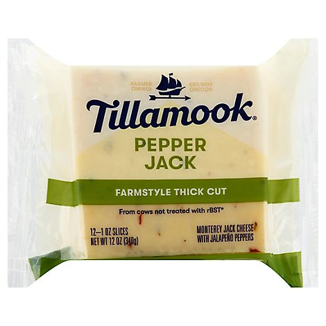 Tillamook Pepper Jack Natural Cheese Slices - 12 Oz