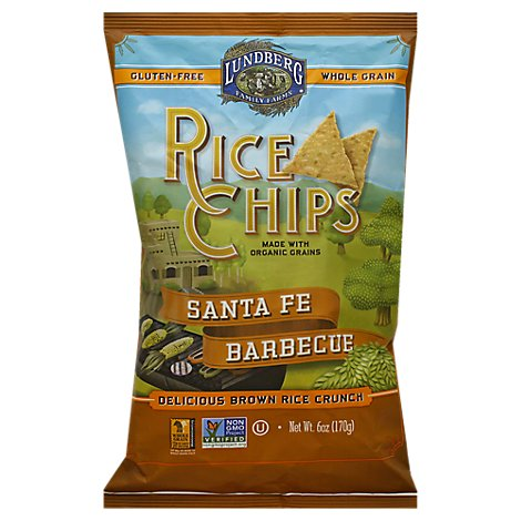 Lundberg Rice Chips Santa Fe Barbecue - 6 Oz