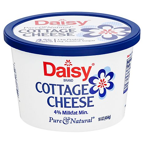 Daisy Cheese Cottage Small Curd 4% Milkfat Minimum - 16 Oz