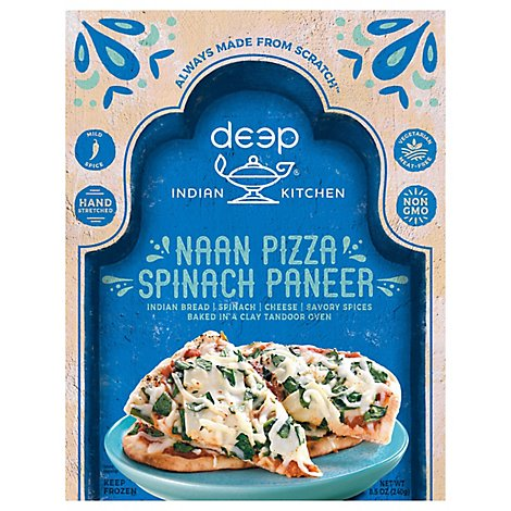 Deep Indian Kitchen Naan Pizza Spinach Paneer - 8.5 Oz