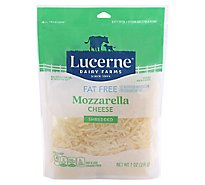 Lucerne Cheese Shredded Mozzarella Fat Free - 7 Oz