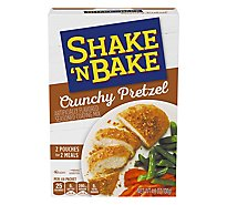 Shake N Bake Seasoned Coating Mix Crunchy Pretzel - 4.6 Oz