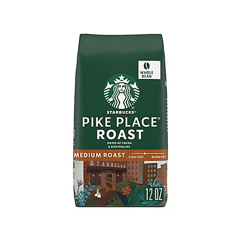Starbucks Coffee Whole Bean Medium Roast Pike Place Roast Bag - 12 Oz