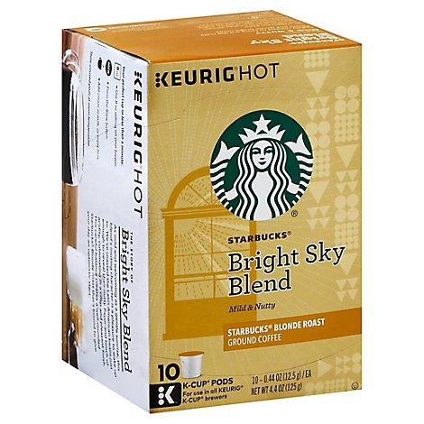 Starbucks Coffee K-Cup Pods Blonde Bright Sky Blend Box - 10-0.44 Oz
