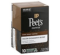 Peets Coffee Coffee Arabica K-Cup Packs Deep Roast Major Dickasons Blend - 10-0.47 Oz