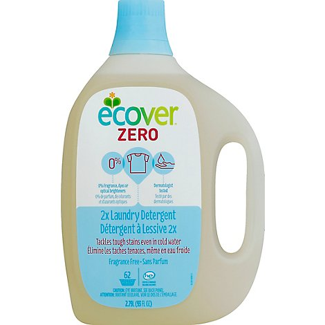 Ecover Laundry Detergent 2x Zero Fragrance Free Bottle - 93 Fl. Oz.