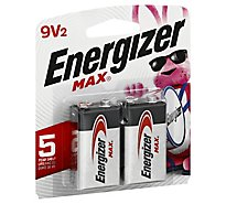 Energizer MAX 522BP-2 Multipurpose Battery - 9V - Alkaline - 2 Pack
