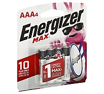Energizer MAX E92BP-4 Multipurpose Battery - AAA - Alkaline - 4 Pack