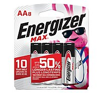 Energizer MAX E91MP-8 Multipurpose Battery - AA - Alkaline Manganese Dioxide - 8 Pack