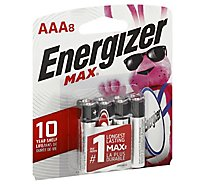 Energizer MAX E92MP-8 Multipurpose Battery - AAA - Alkaline Manganese Dioxide - 8 Pack