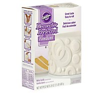 Wilton Decorator Preferred Fondant White Vanilla - 24 Oz