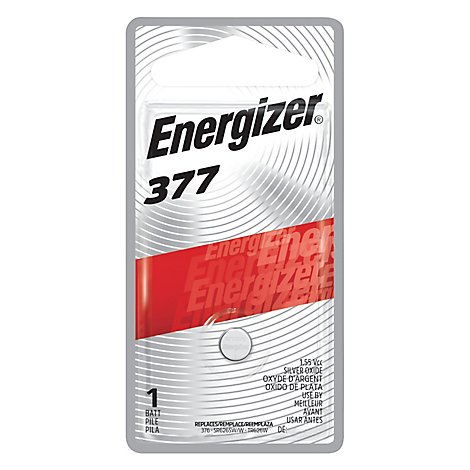 Energizer Batteries 377 Silver Oxide Button Cell - Each