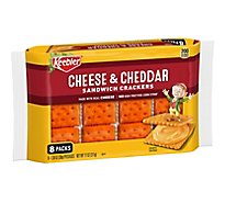 Keebler Sandwich Crackers Cheese and Cheddar 8 Count - 11 Oz