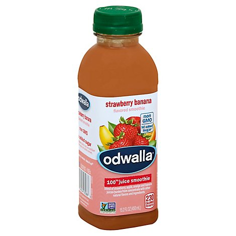 Odwalla Flavored Smoothie Blend Strawberry Banana - 15.2 Fl. Oz.