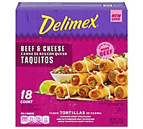 Delimex Beef & Cheese Flour Taquito - 21.6 Oz