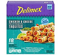 Delimex Chicken & Cheese Flour Taquito - 21.6 Oz