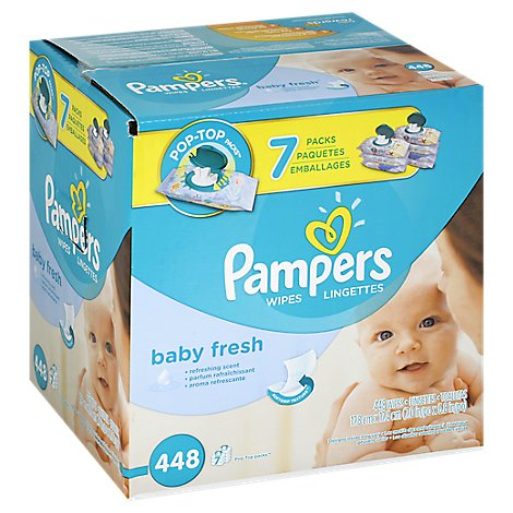 Pampers Wipes Baby Fresh - 448 Count