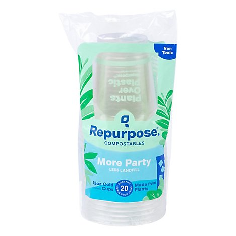Repurpose Cup Cold 12 Ounce - 20 Count