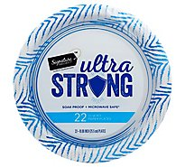 Signature SELECT Plates Paper Ultra Strong Coated 10 Inch - 22 Count