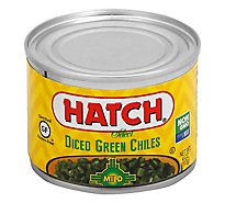 HATCH Select Green Chiles Gluten Free Diced Fire-Roasted Mild Can - 4 Oz