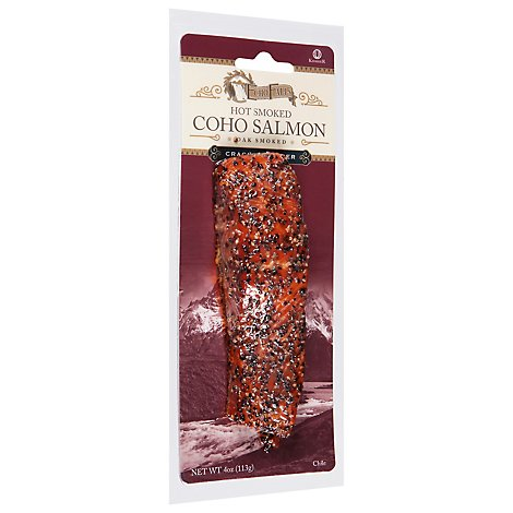 Echo Falls Salmon Smoked Hot Pepper Frozen - 4 Oz