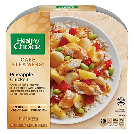 Healthy Choice Cafe Steamers Chicken Pineapple - 9.9 Oz