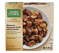 Healthy Choice Cafe Steamers Top Chef Meal Barbecue Seasoned Steak with Red Potatoes - 9.5 Oz