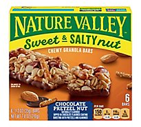 Nature Valley Granola Bars Sweet & Salty Nut Chocolate Pretzel Nut - 6-1.2 Oz