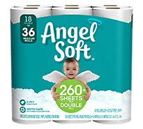 Angel Soft Bathroom Tissue Double Rolls 2 Ply Unscented - 18 Roll