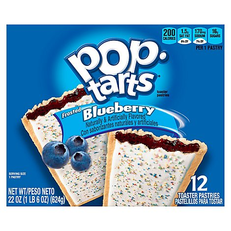 Pop Tarts Toaster Pastries Frosted Blueberry - 22 Oz