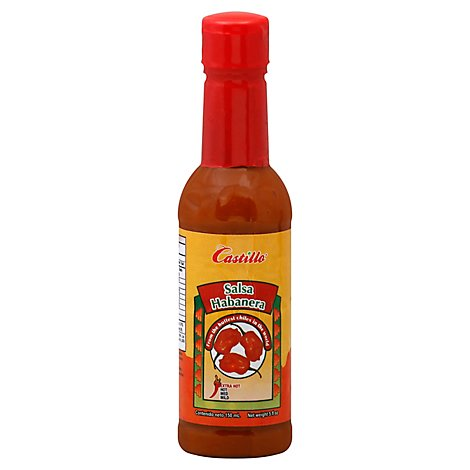 Castillo Salsa Habanera Red Extra Hot Bottle - 5 Fl. Oz.