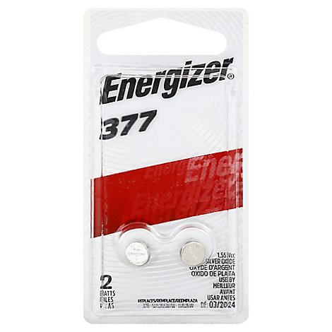 Energizer Batteries Watch Electronic 1.55 V 377 - 2 Count