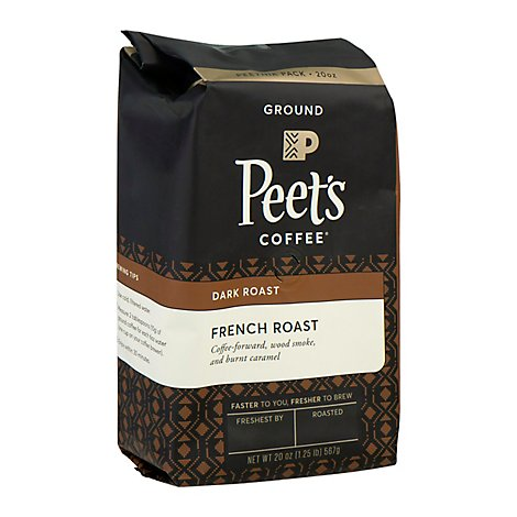 Peets Coffee Coffee Ground Deep Roast French Roast - 20 Oz