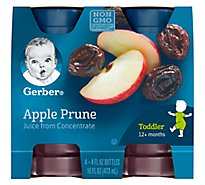 Gerber Juice Apple Prune - 4-4 Fl. Oz.
