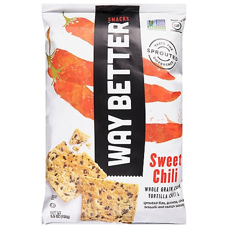 Way Better Snacks Tortilla Chips Sweet Chili - 5.5 Oz
